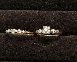 Vintage Womens Wedding Ring Set