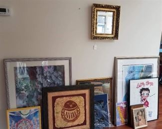 Oil paintings, numbered prints, Central American Art, MCM Art, antique mirror