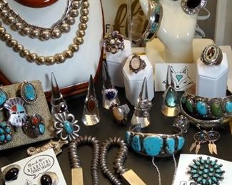 TONS of sterling silver jewelry, Native American and Gemstone