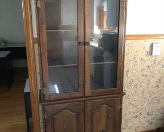 Dark Wood China Cabinet