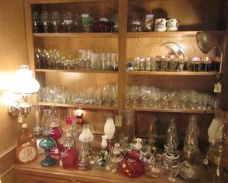 Barware and Oil Lamp Collection