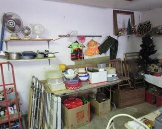 Lots of Tupperware, fans, more garage stuff!