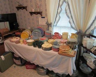 Fiesta, Corelle, Pots, Pans, etc., etc., etc.
