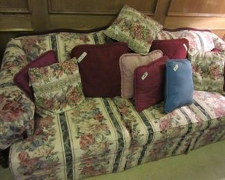 Beautiful Sofa with Matching Love Seat