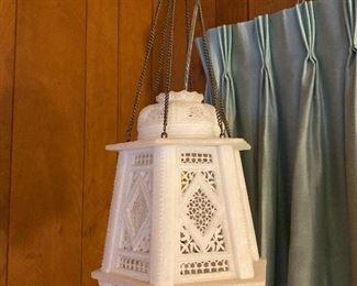 Swag Lamp White