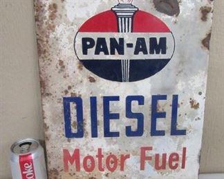"""13"""" x 17"""" Metal PAN-AM Diesel Sign"""