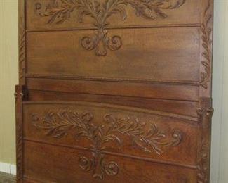 Fancy Oak Bed w/Rails