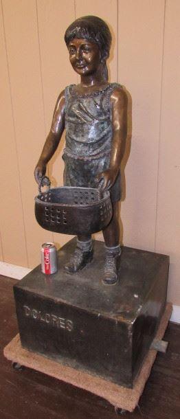 Bronze Yard Statue