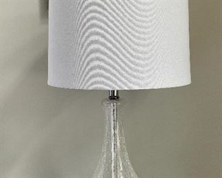 "Item 22:  (2) Crackled Glass Table Lamps - 28"":  $55 each"