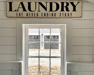 "Item 29:  Laundry Sign - 44"" x 9.5"":  $45"