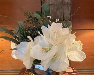 "Item 35:  Faux Floral Arrangement - 15"":  $14"