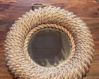 "Item 50:  Rope Mirror Tray - 16"" x 3"":  $24"