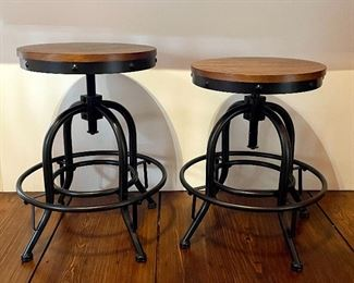 "Item 52:  (2) Adjustable Bar Stools - 15"" x 20.5"":  $145 ea"