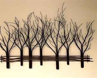 "Item 56:  ""Tree"" Wall Decor - 35"" x 24"":  $28"