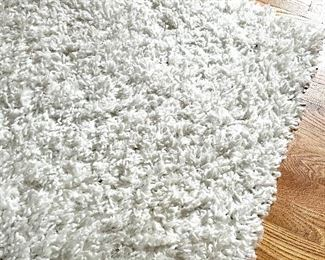 Item 66:  Simple White Low Shag Rug - 7' x 10': $165