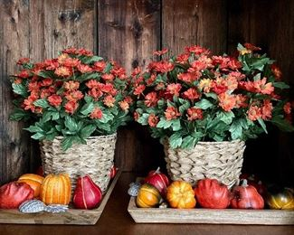 "Item 71:  Autumn Decor (these are identical - one is just turned sideways!) - 19"": $35 each"