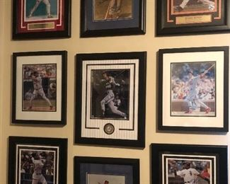 Signed and framed sports memorabilia