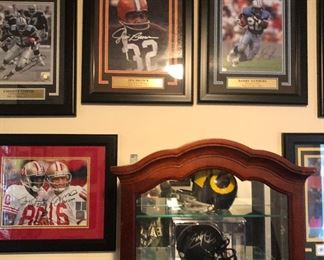 More signed and framed sports memorabilia