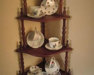 Teacup Collection...Corner Shelf...