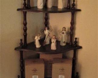 Willow Tree Angels...Corner Shelf...