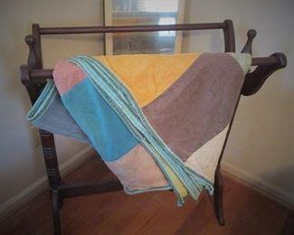 Quilt Stand..Vintage Quilt..