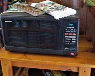 Microwave ..Butcher Block Table..