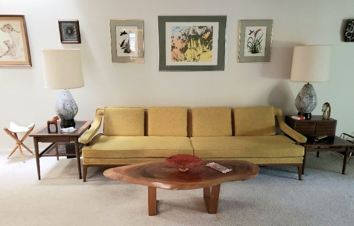 Over View Of Living Room  - 1960's Sofa By Dawson Interiors