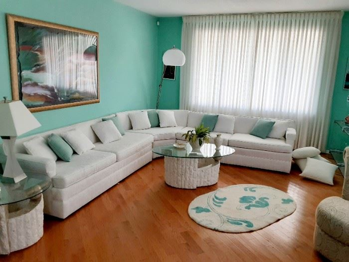 Recently reupholstered 3 pc sectional...looks like new!!!