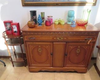 Great Vintage Buffet & Misc Decor
