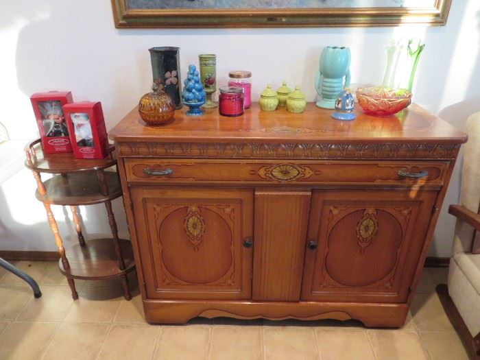 Great Vintage Buffet & Misc Decor