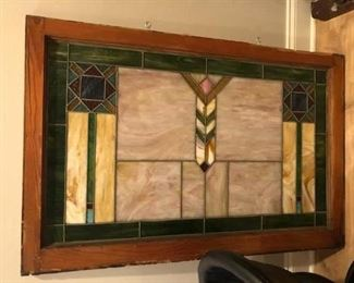 Beautiful Stained Glass Window. Large