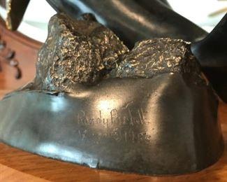 'Newborn' bronze sculpture signed by Randy Puckett 1988