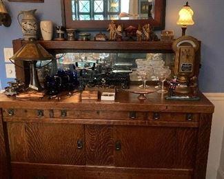 Mission oak Buffet
