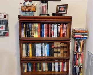 GLOBE WERNEKE BARRISTER BOOKCASE...SOME OF THE MANY BOOKS