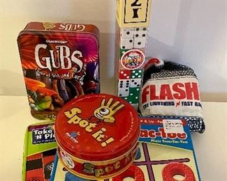 Item 4:  Lot of assorted games including tic-tac-toe:  $36