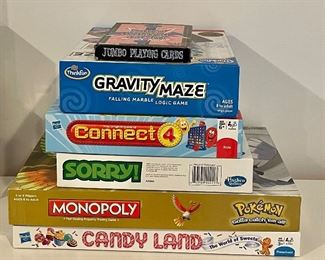 Item 10:  Lot of assorted games including Monopoly:  $36