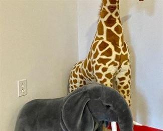 Item 13:  Stuffed Elephant (front):  SOLD                                                                           Item 14:  Stuffed Giraffe (rear): SOLD