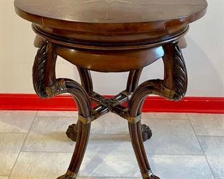 """Item 25:  Side Table with Claw on Ball Feet - 25"""" x 29.5"""":  $65"""