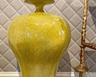 "Item 51:  (2) Covered Ceramic Urns - 29"":  $165 for both"