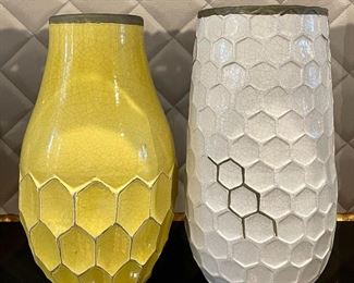 "Item 52:  (2) West Elm Vases:  $34/Each                                                                                        Largest - 5.5"" x 12"""