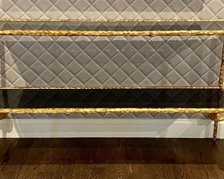 "Item 54:  Marble and Gold Console Table - 57.5""l x 15""w x 34""h:  $1145"