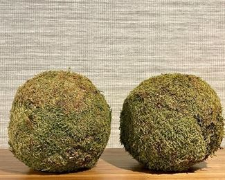 """Item 81:  (3) Pottery Barn Faux Moss - 8"""":  $28 for 3"""
