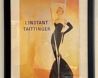 """Item 88:  L'Instant Taittinger Framed Print - 34"""" x 43.5"""":  $245"""