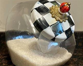 Item 94:  Mackenzie Childs Cookie Jar:  $65