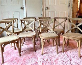 """Item 116:  (8) Kids Chairs - 14""""l x 13""""w x 25.5""""h:  $95"""