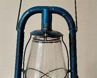 """Item 124:  Antique Dietz Monarch Lantern - 14"""":  $38"""