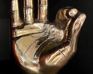 "Item 135:  ""Okay"" Metallic Hand - 9"":  $35"