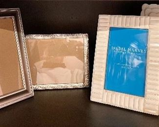 Item 138:  Lot of assorted frames with two white frames:  $28