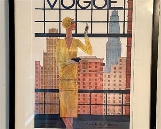 "Item 148:  Framed French Vogue Poster - 24.25"" x 30.25"":  $175"