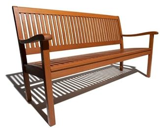 Item 95:  Strathwood All Weather Hardwood 3 Seater Bench (new in box):  $145